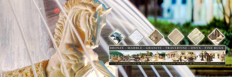 Fine's Gallery - Bronze, Marble, Granite, Travertine, Onyx and Fine Rugs