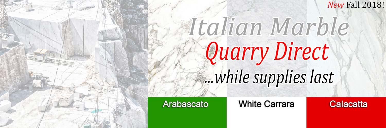 Italian Marble Quarry Direct, White Carrara, Calacatta, Arabascato Marble