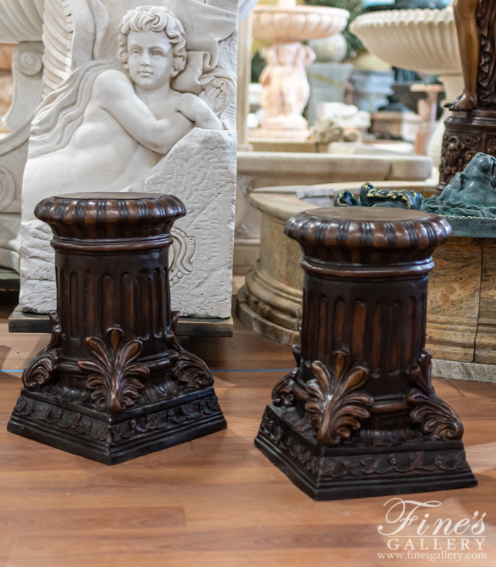 Bronze Bases  - Fluted Column Style Bronze Base - BB-109