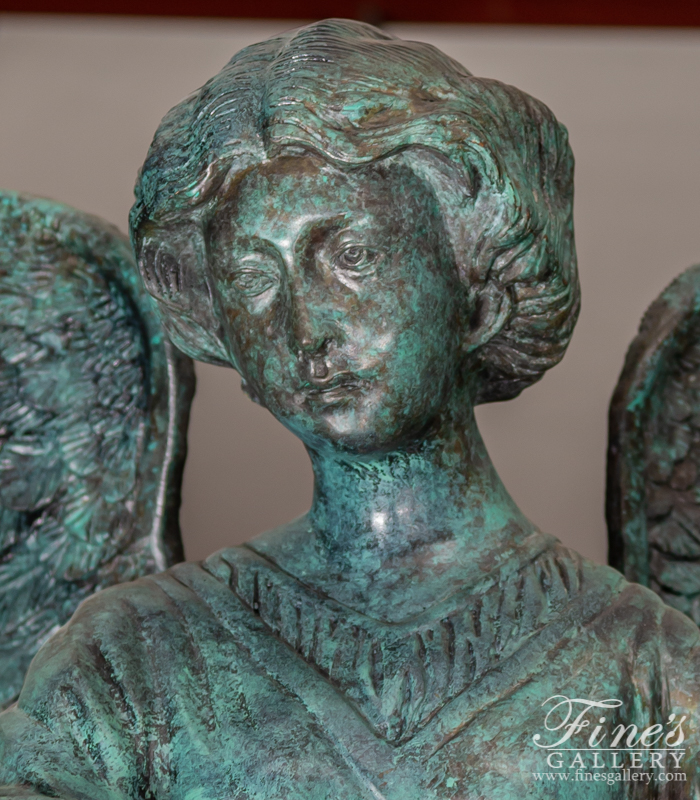 Bronze Fountains  - Female Angel Bronze Fountain - BF-121