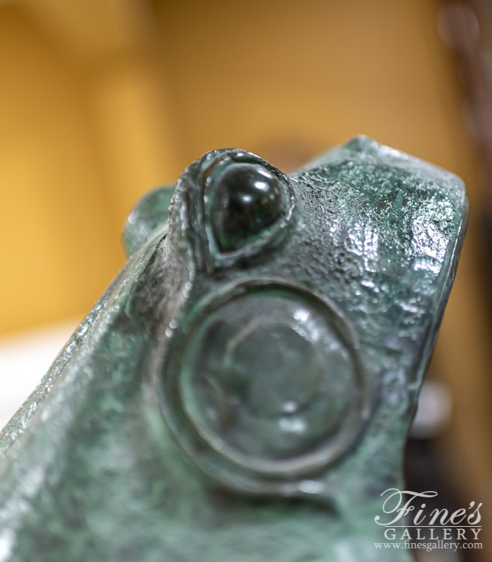 Bronze Fountains  - Leaping Frog Bronze Fountain - BF-359