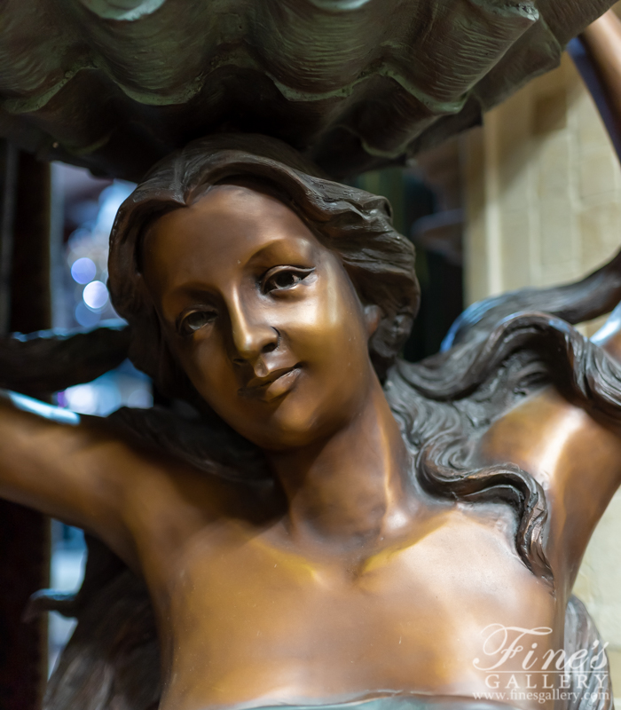 Bronze Fountains  - Beautiful Bronze Woman - BF-486