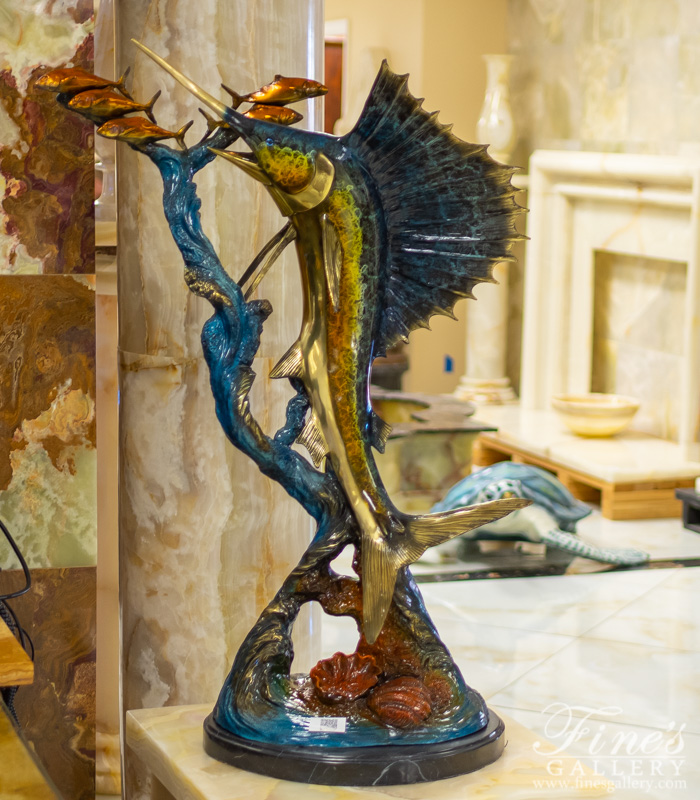 Bronze Statues  - Bronze Sailfish Sclupture - BS-1562