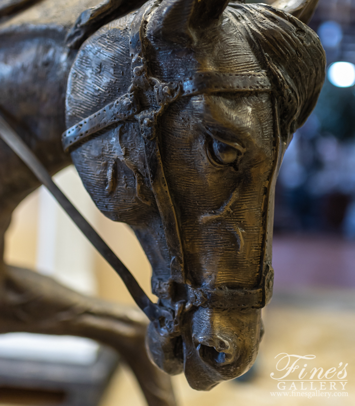 Bronze Cowboy With Horse Statue