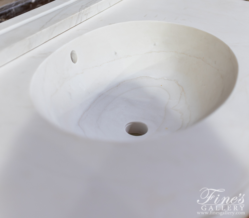 Marble Kitchen and Baths  - Pure White Marble Sink - KB-178