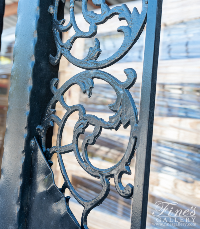 Marble Columns  - Marble Columns And Wrought Iron Gate - MCOL-343