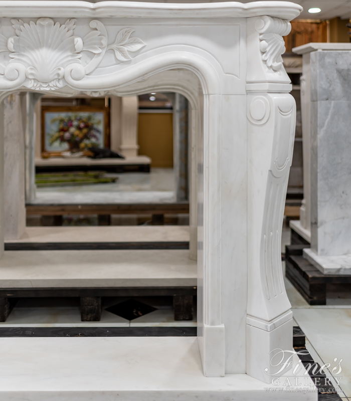 Marble Fireplaces  - French White Marble Surround - MFP-1758