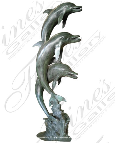 Three Dolphins Leaping