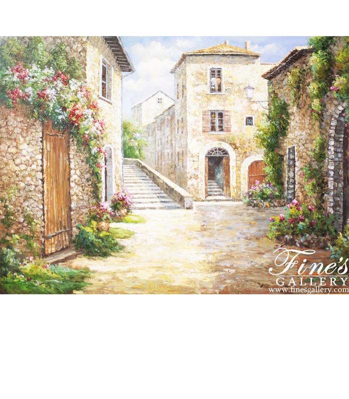 The Garden Village Canvas Art
