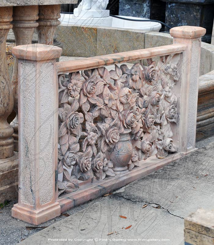 Ornate Floral Marble Baluster