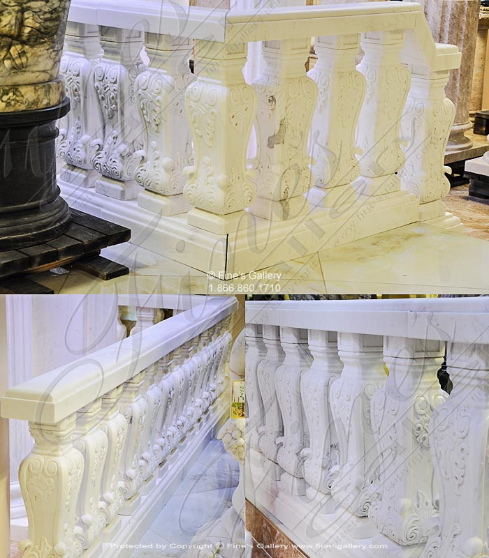 Ornate Marble Balustrade