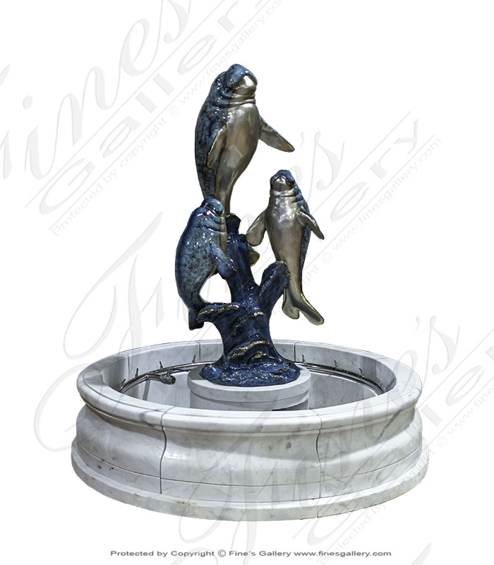 Bronze Manatee Fountain