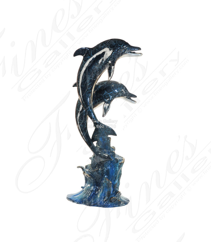 Two Dolphins Bronze Fountain