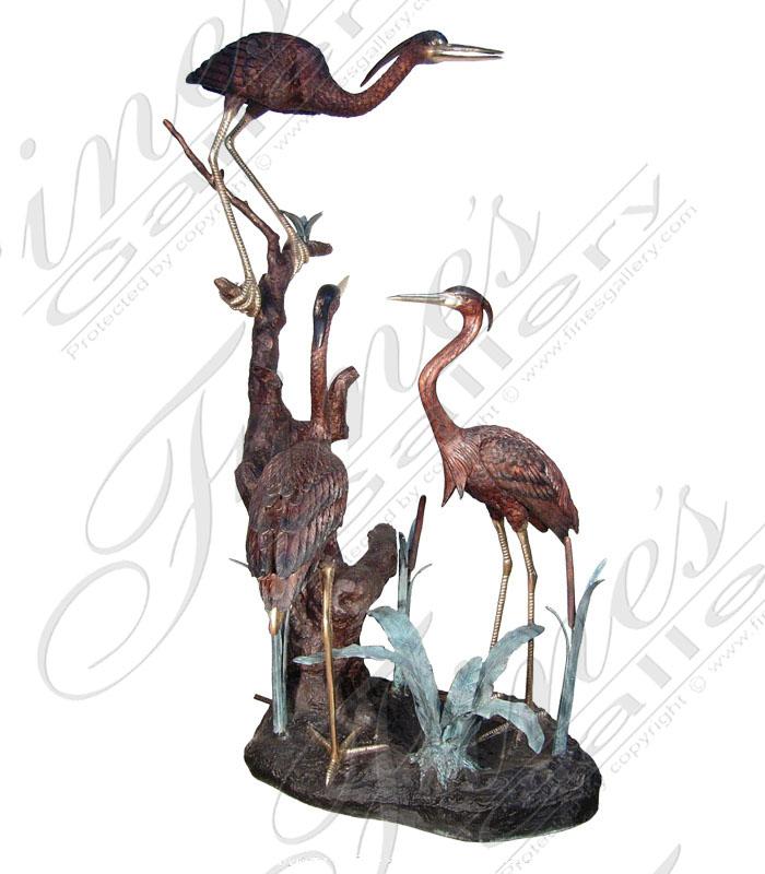 Bronze Cranes or Birds Fountain