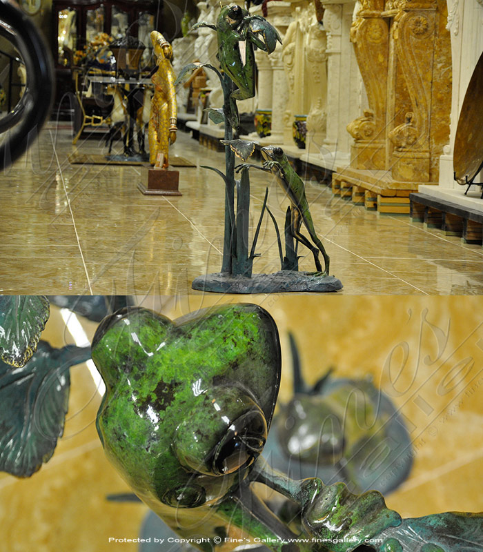 Summer Time Frogs Bronze Fountain