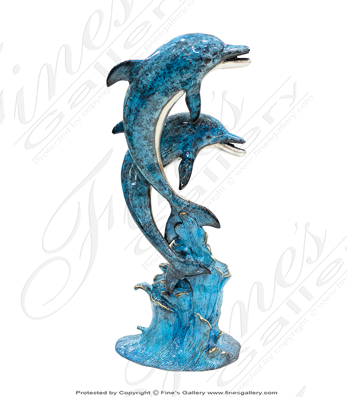 Leaping Dolphins Bronze Fountain