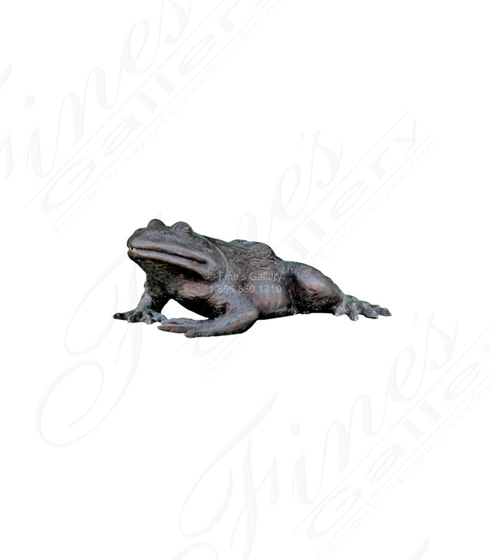 Bronze Toad Fountain