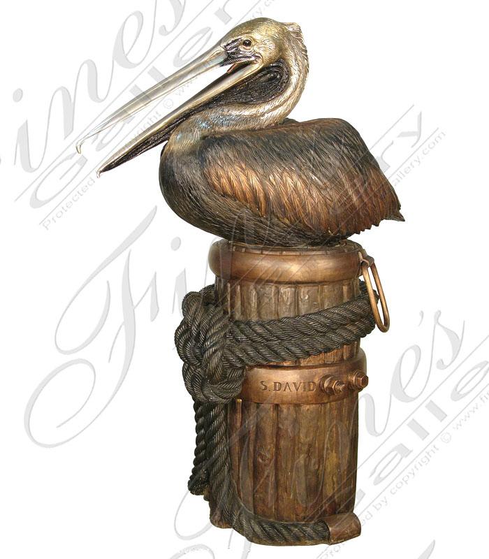 Bronze Pelican Fountain