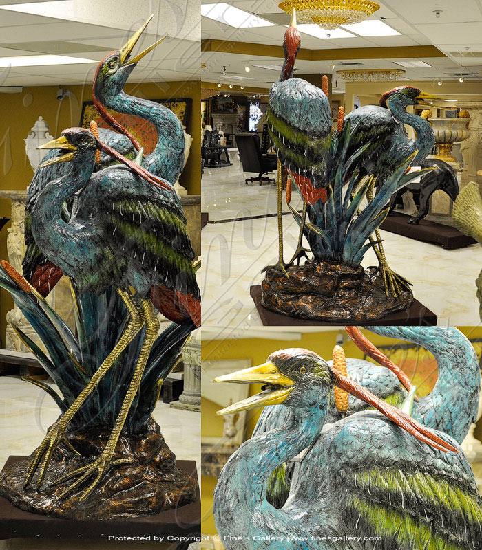 Bronze Herons Fountain