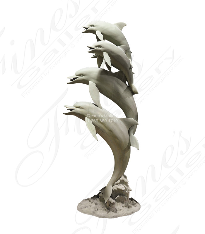 Antique Patina Five Dolphin Fountain Feature