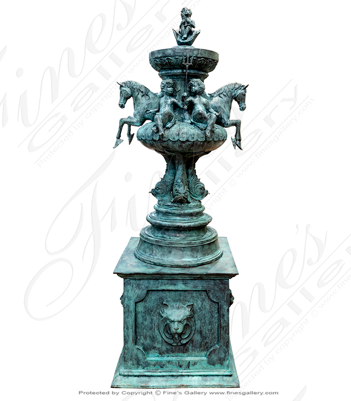 French Chateau Bronze Fountain