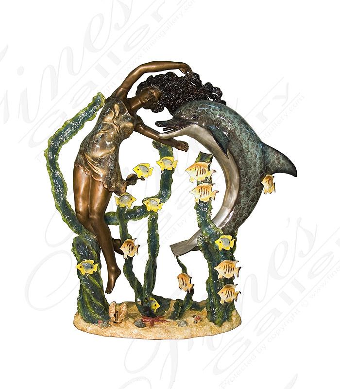 Tropical Paradise Bronze Fountain