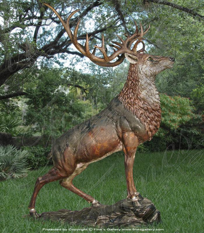 Majestic Bronze Stag