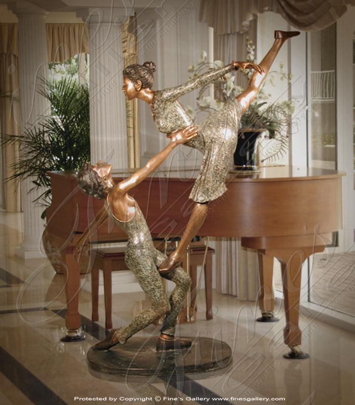 Bronze Ballet Dancers