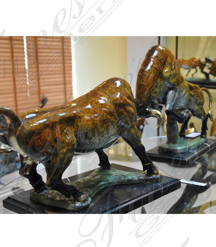 Bronze Bull Fight Statue Set