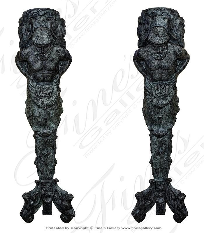 Bronze Statue Pair