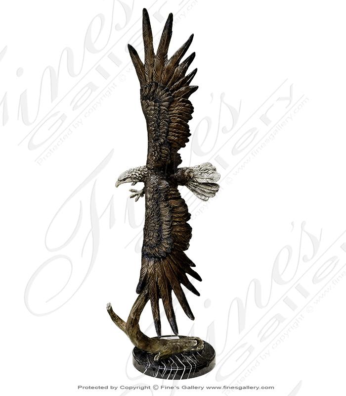 Soaring Bronze Eagle Statue