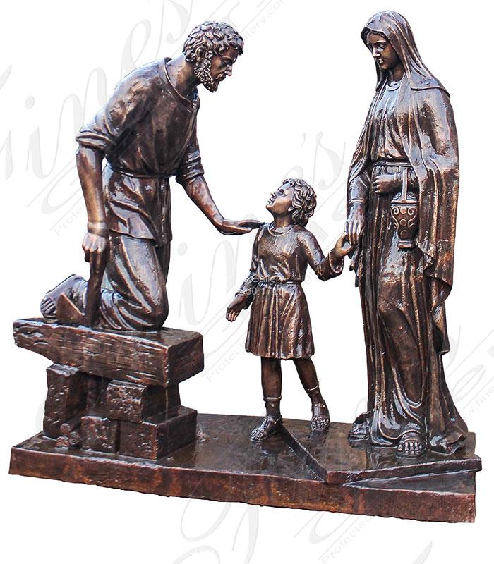 Custom Designed Religious Bronze Statue