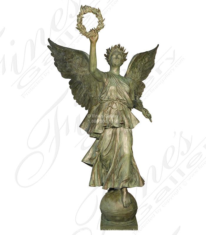 90 Inch Tall Bronze Angel Statue