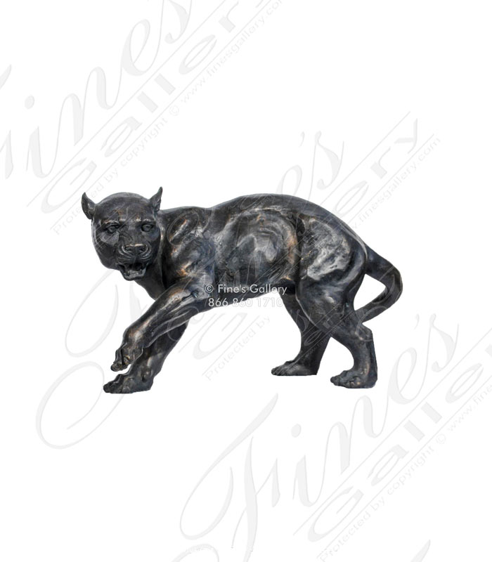Bronze Panther Statue