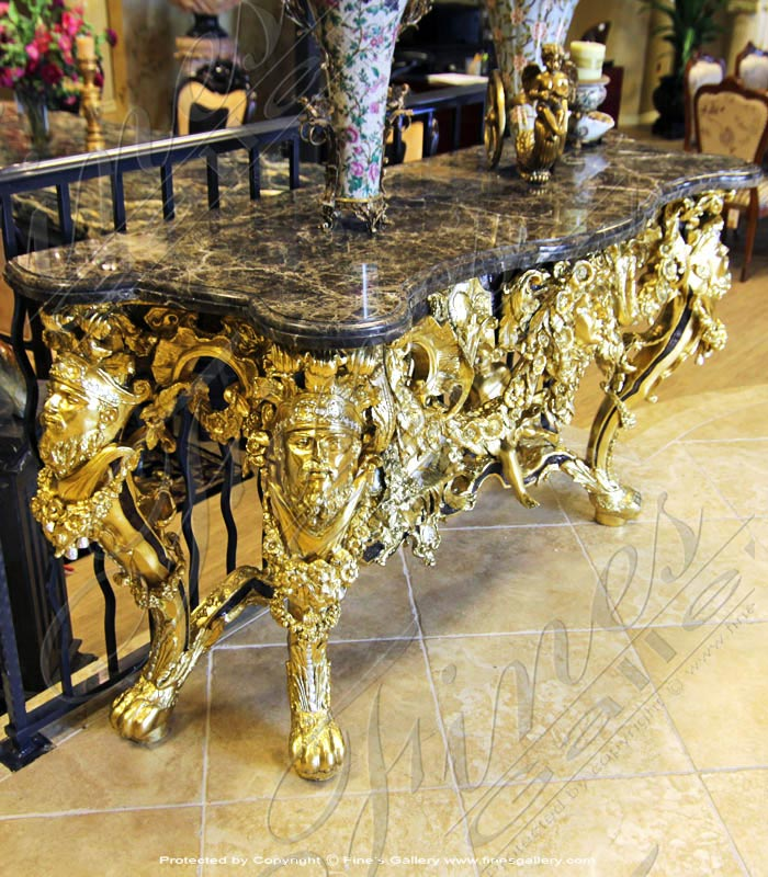 18K Gold Gild Bronze Table