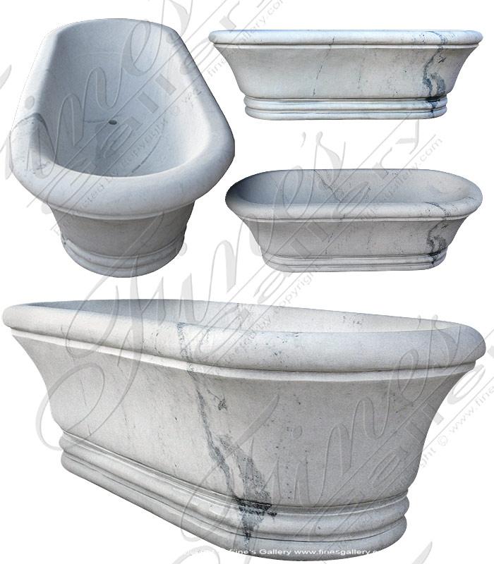 White Marble Tub