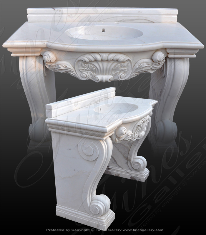 Pure White Marble Sink