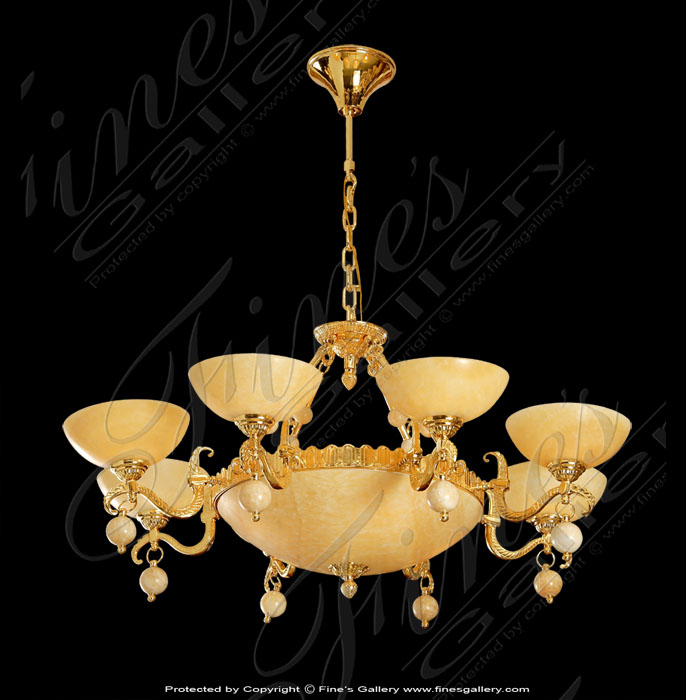 Cream & Gold Large Chandelier