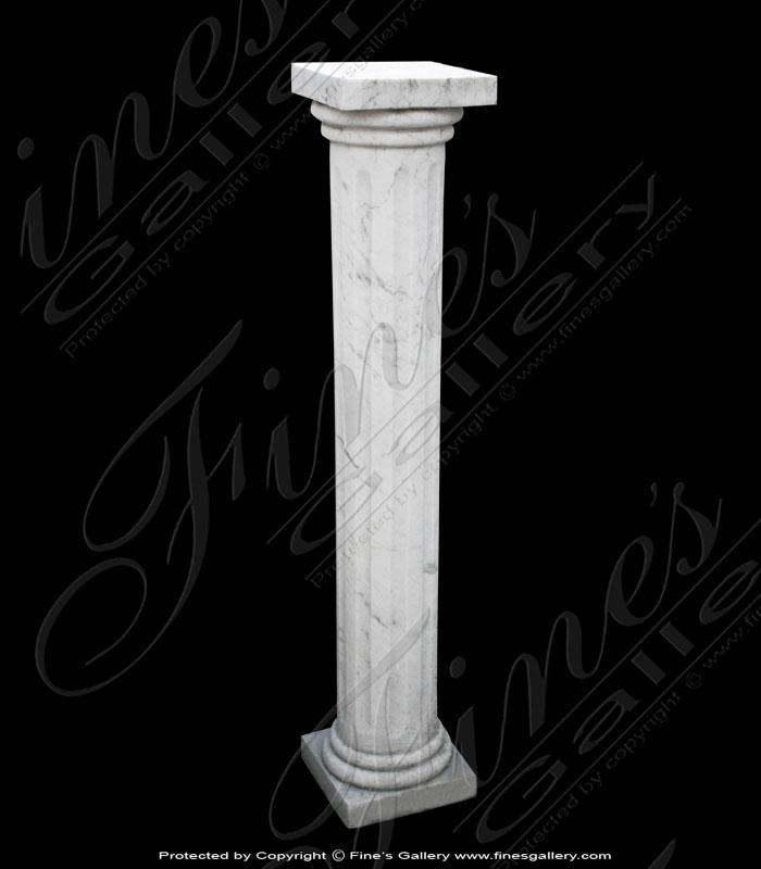 White Column Marble Base