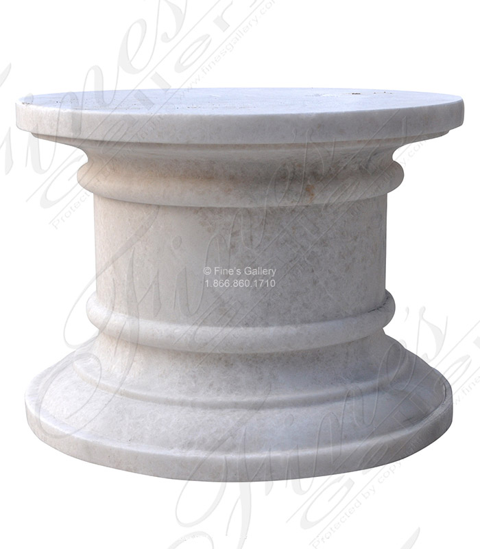 Round White Marble Pedestal