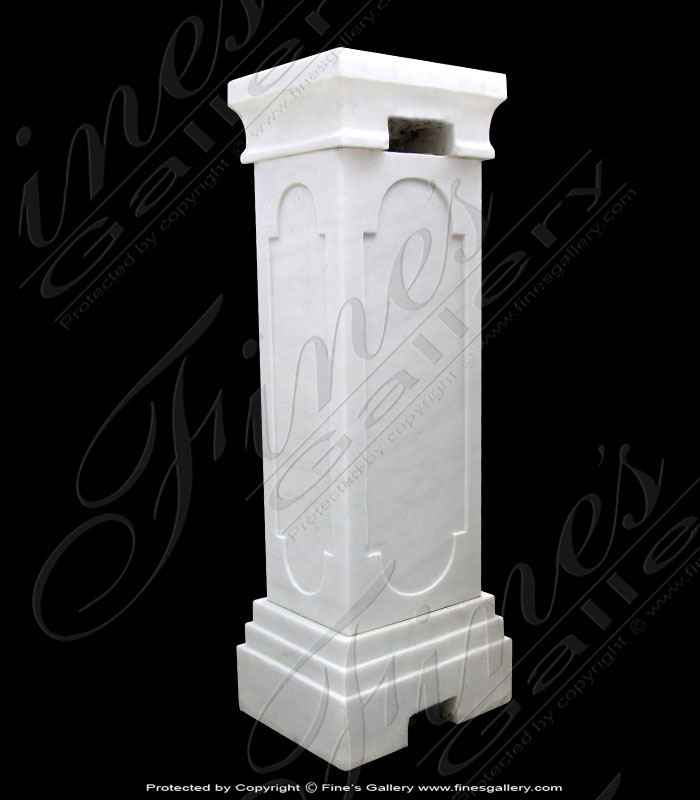 White Carrara Marble Base