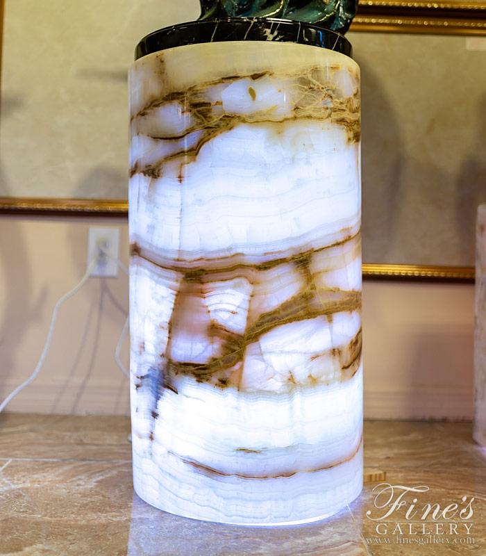 Translucent Onyx Pedestal