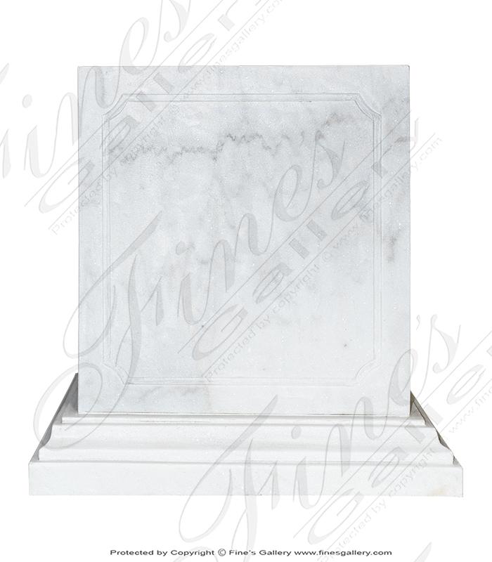 High Grade Statuary White Marble Pedestal