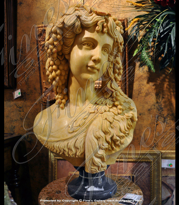 Girl with Grapes Marble Bust