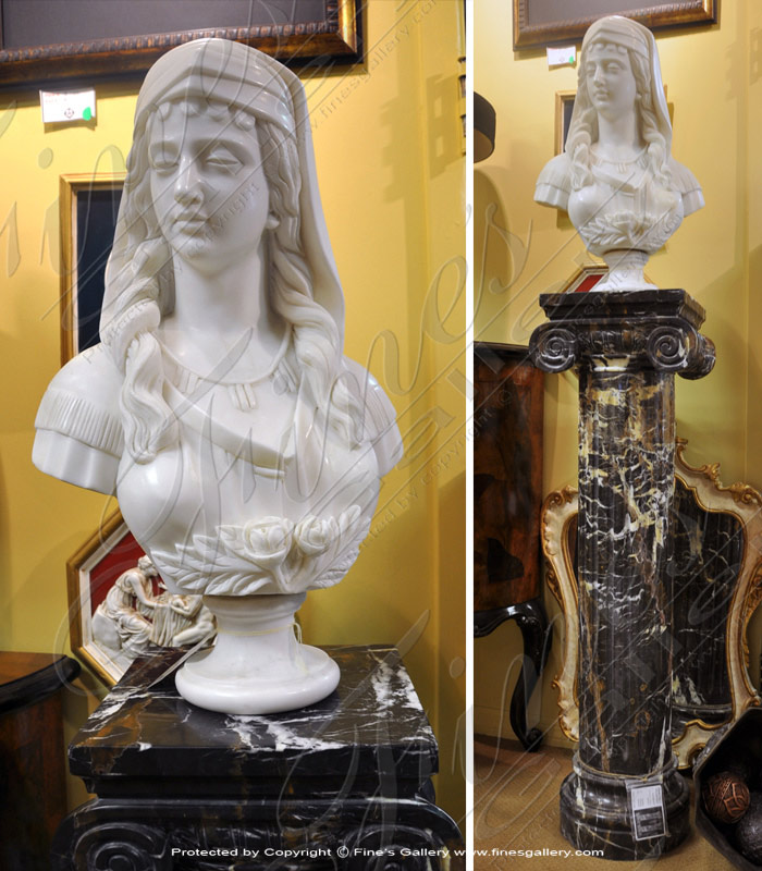 White Marble Bust