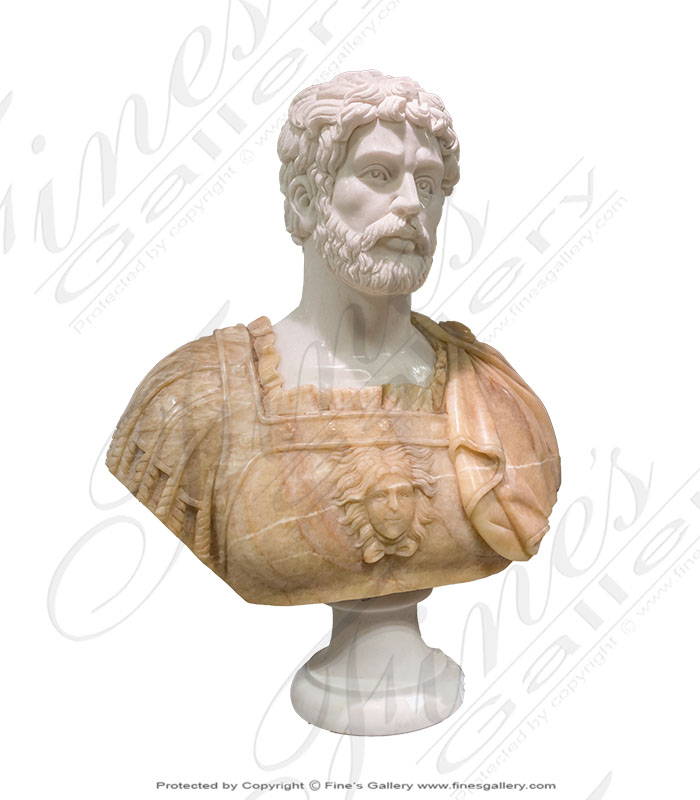 Roman Soldier Marble Bust