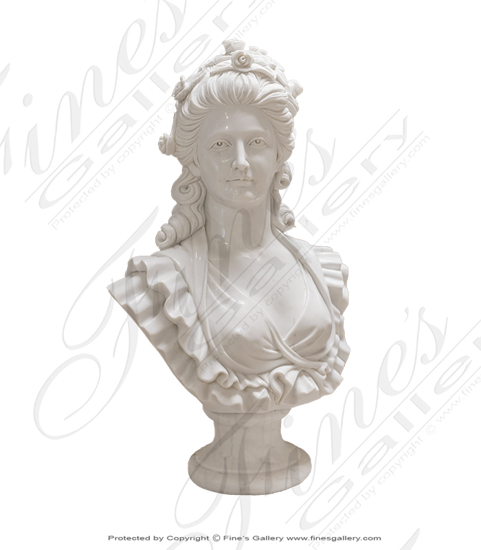 Stunning Marble Noblewoman Bust