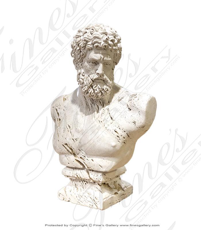 Italian Marble Hercules Bust