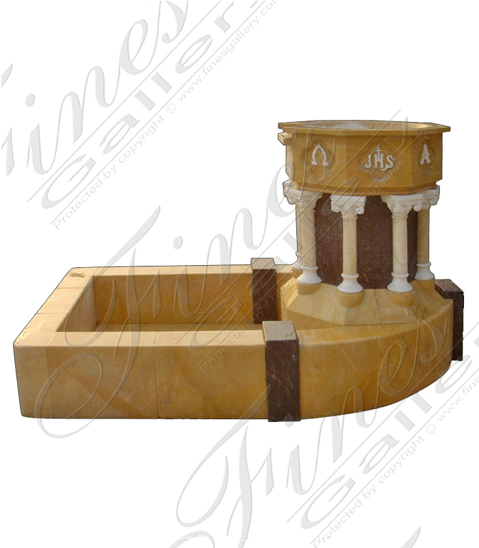 Marble Church Lectern and Baptismal Font