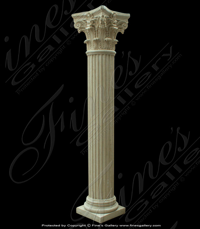 Round Fluted Marble Column